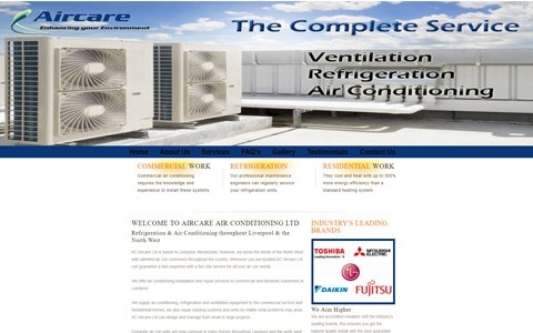 Aircare Air Conditioning by Southport Web Design