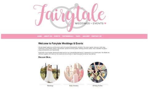 Fairytale Weddings and Events by Southport Web Design